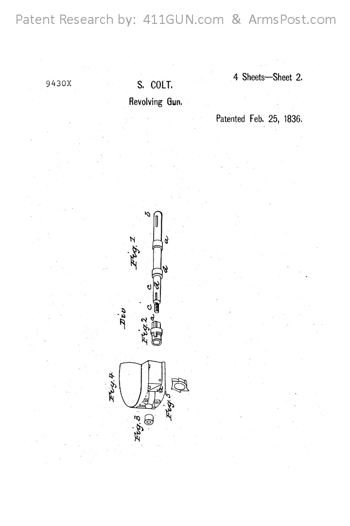 Samuel Colt US Patent X9430 Drawing 2