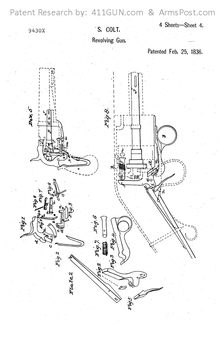 Samuel Colt US Patent X9430 Drawing 4