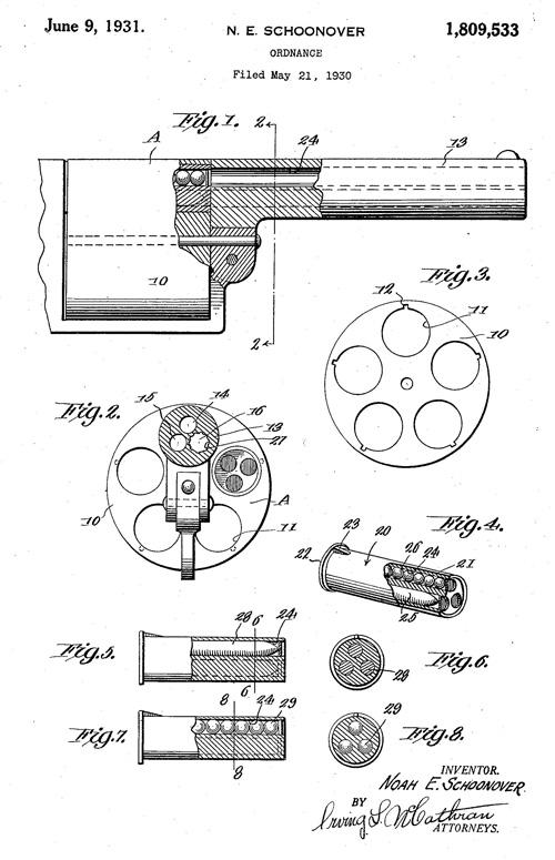 Noah Schoonover Revolver US Patent 1809533