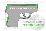 Ruger LCP vs Taurus TCP Pocket Pistol Size Comparison