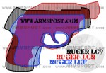 Ruger LCP vs LC9 vs LCR Lightweight Compact Size Comparison with Triggers Aligned