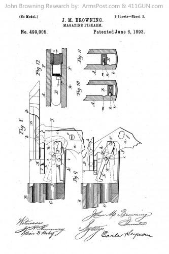 John Browning US Patent 499005