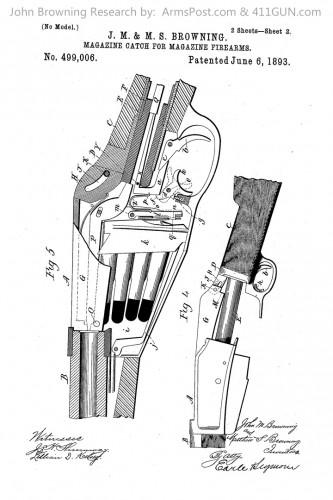 John Browning US Patent 499006