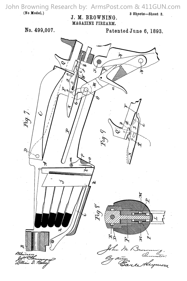 John Browning US Patent 499007