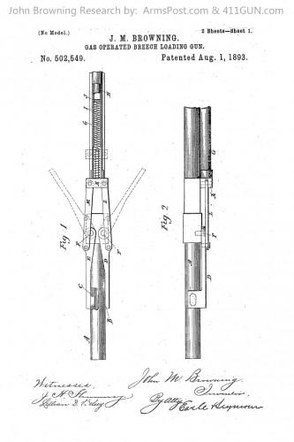 John Browning US Patent 502549