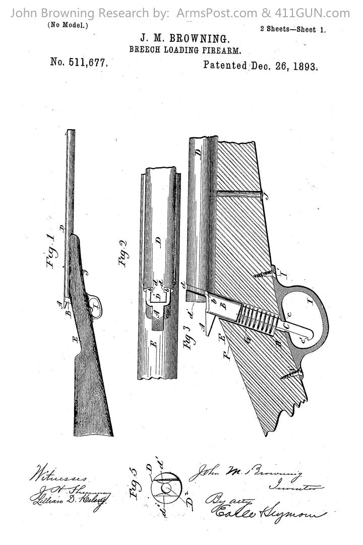 John Browning US Patent 511677