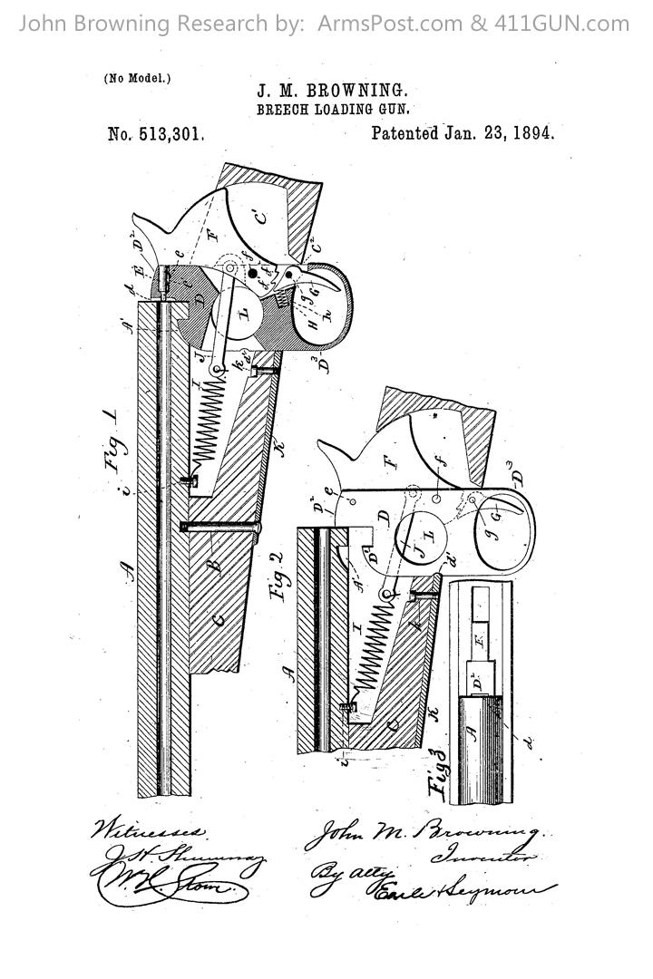 John Browning US Patent 513301