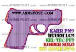 Kahr PM9 vs Kimber Solo Micro 9 Pistol Comparison Triggers Aligned