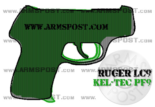 Ruger LC9 vs Kel Tec PF9 9mm Pistol Comparison with Triggers Aligned