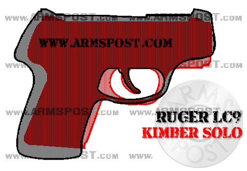 Ruger LC9 vs Kimber Solo 9mm Pistol Comparison with the Triggers Aligned