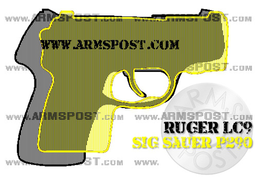 Ruger LC9 vs Sig Sauer P290 9mm Pistol Comparison with the Triggers Aligned