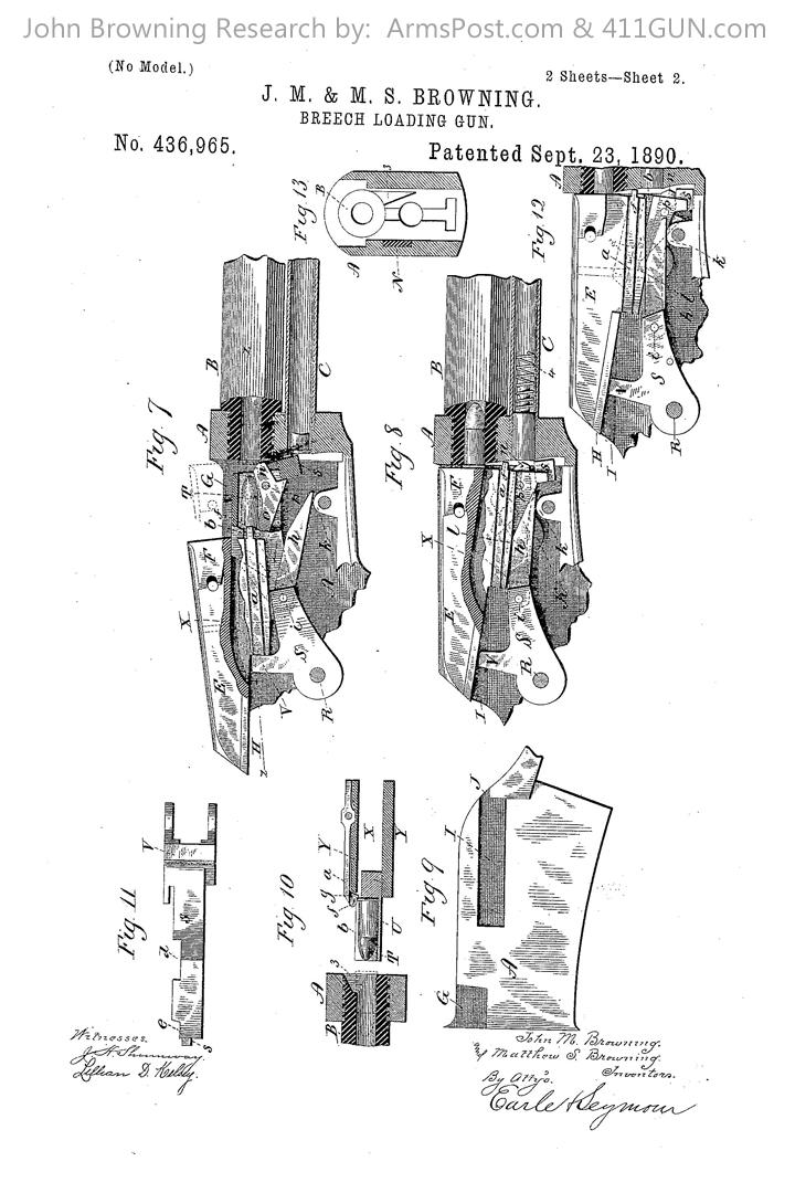John Browning US Patent 436965 Drawing 2