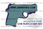 Smith & Wesson Bodyguard 380 vs Sig Sauer P238 .380 ACP Pistol Comparison
