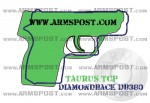 Diamondback DB 380 vs Taurus TCP 380 ACP Pocket Pistol Comparison with Triggers Aligned