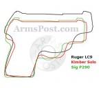 Ruger LC9 vs Sig P290 vs Kimber Solo 9mm Pistol Size Comparison