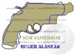 Ruger Super Redhawk Alaskan vs Smith Wesson Governor Revolver Size Comparison