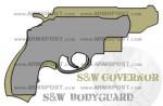 Smith & Wesson Governor vs Bodyguard 38 Revolver Size Comparison