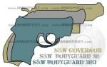 Smith Wesson Governor vs Bodyguard 38 and 380 Size Comparison