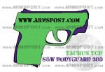 Smith & Wesson Bodyguard 380 vs Taurus TCP Pocket Pistol Comparison