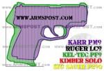 Kahr PM9 vs Kel Tec PF9 Micro 9 Pistol Comparison with the Triggers Aligned