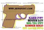 Kahr PM9 vs Sig P290 Micro 9 Pistol Comparison